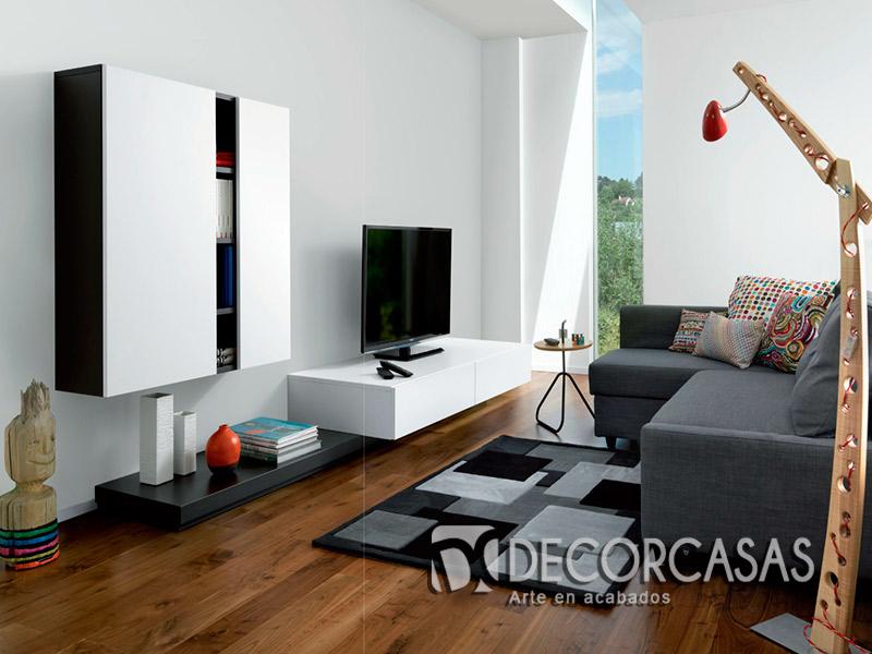 Muebles de sala en melamina, centros de entretenimiento