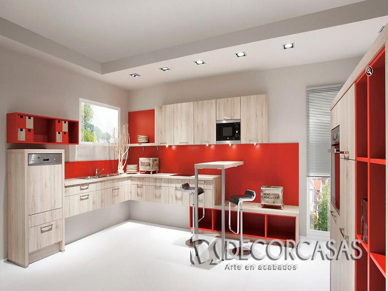 Muebles de cocina en melamina per muebles de melamine for Mueble cocina americana