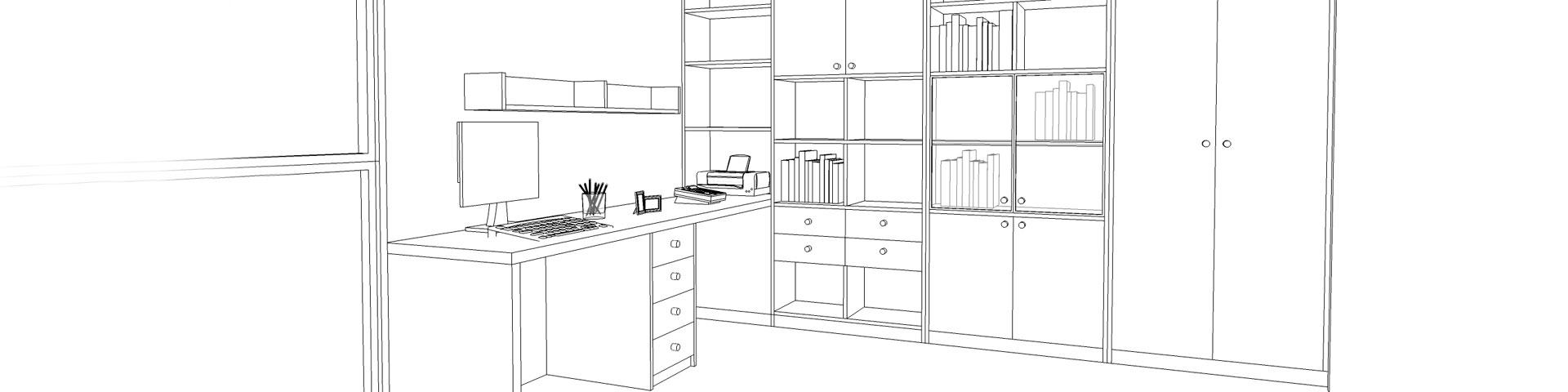 Diseño de muebles 3D en melamina. Proyectos de diseño 3D