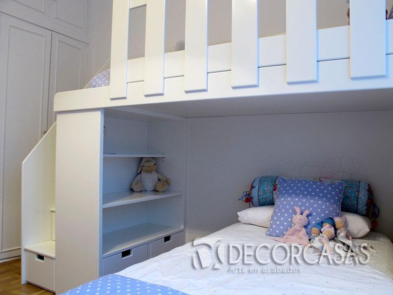 Lindos camarote para ni os funcionales ideales para for Muebles de dormitorio lima