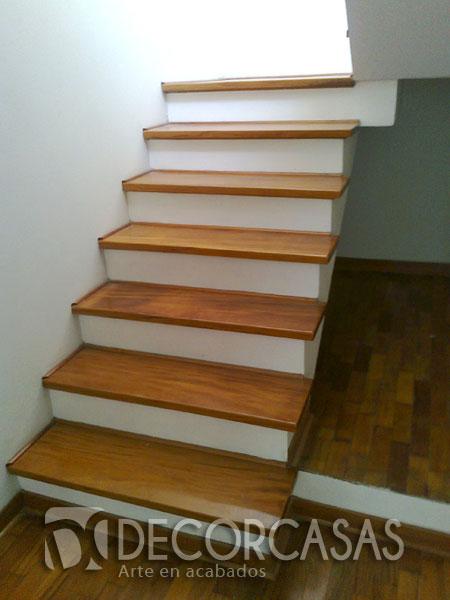 Escaleras de madera per escaleras revestidas y enchapadas Modelos de escaleras de cemento