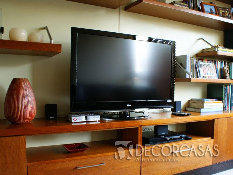 Muebles de sala en melamina centros de entretenimiento for Mesas de televisor modernas