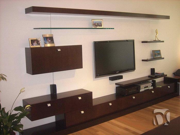 Muebles de sala en melamina centros de entretenimiento for Living de madera modernos